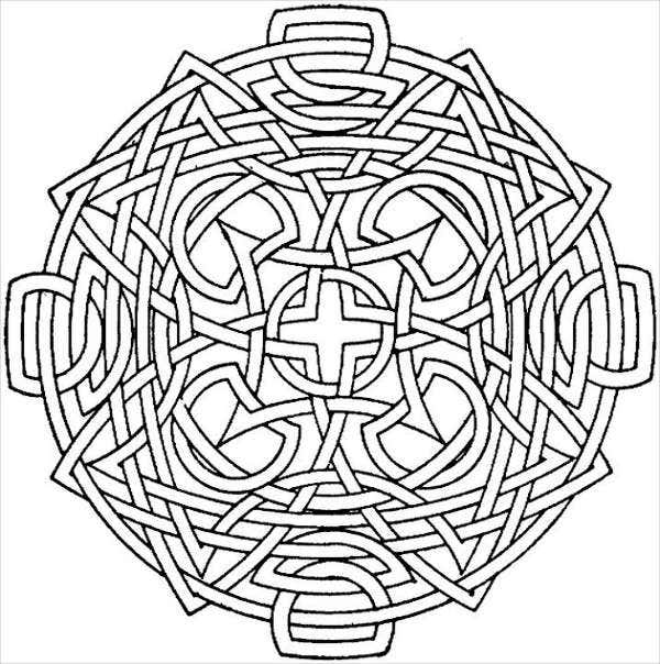 Geometric Coloring Pages For Adult