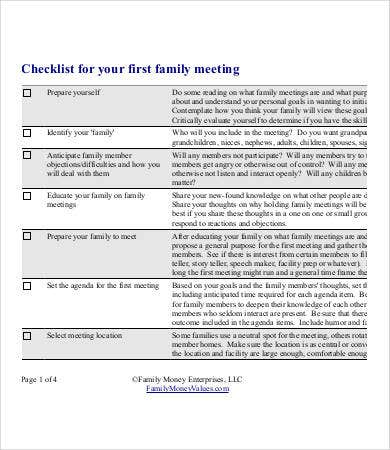 Meeting Checklist Template Word  BesikEightyCo
