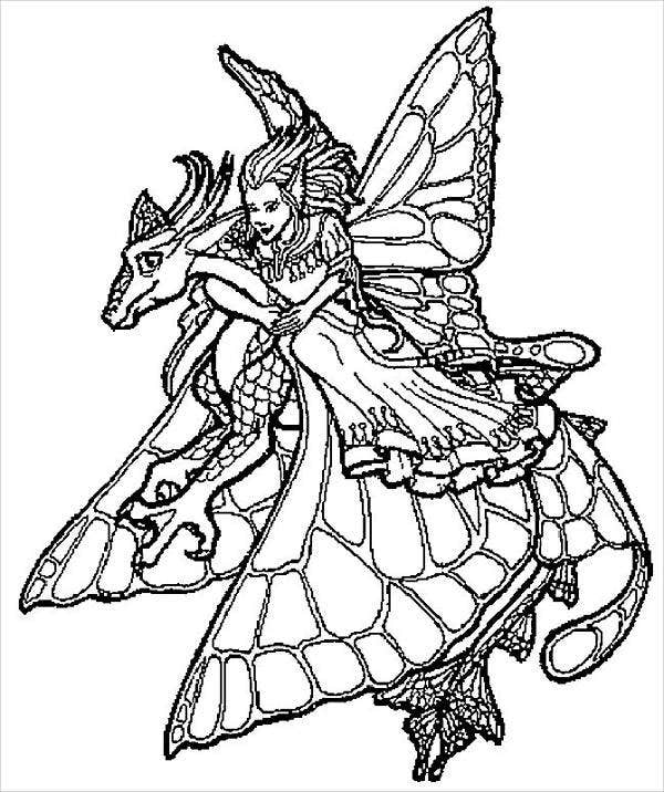 Cool Fairy Coloring Page