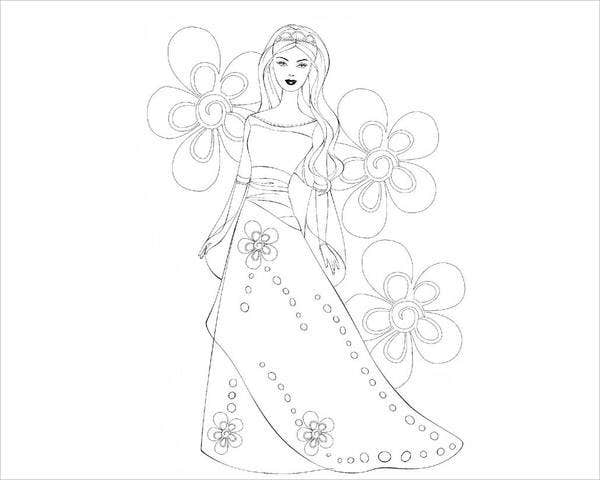 cool barbie coloring page