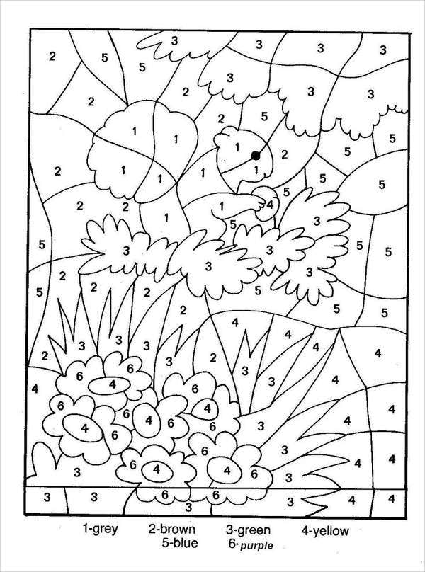 printable number coloring page