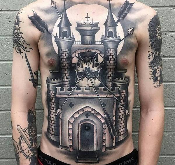 Vintage Style Torso Tattoo Art