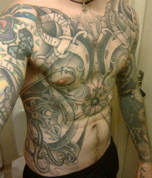 Traditional Torso Tattoo Art