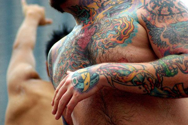 Colorful Torso Tattoo