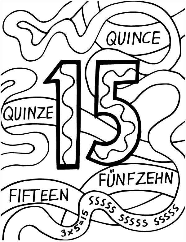 free number coloring page