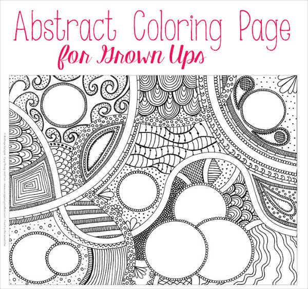 abstract coloring pages for adult