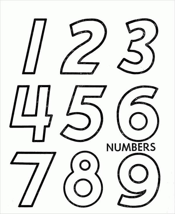 8+ Number Coloring Pages | Free & Premium Templates