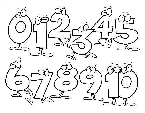 Number Coloring Page for Toddlers