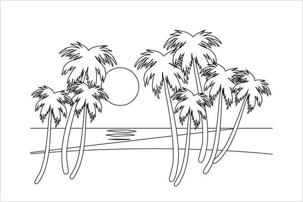 scenery coloring pages for adult