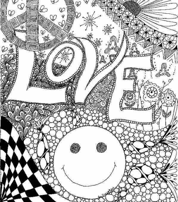 Love Coloring Pages For Adult