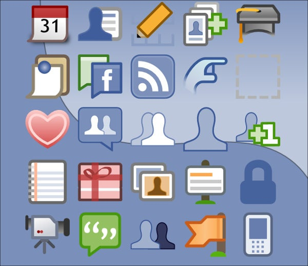 Vector Facebook Icons