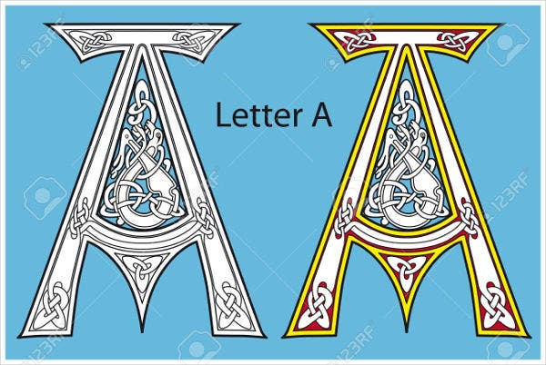Vector Ancient Celtic alphabet