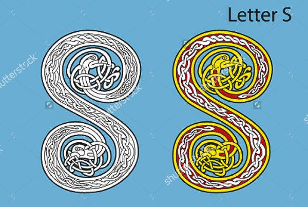Celtic Alphabet Letter Pattern