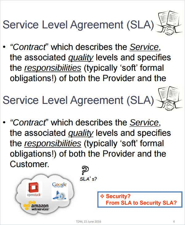 9 Service Level Agreement Templates Free Word PDF Documents – Service Level Agreement
