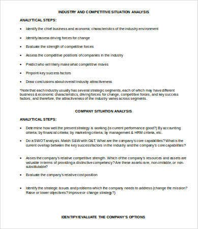 industry situation analysis template1