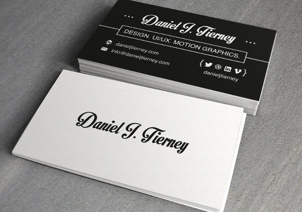 Personal Card Templates Free Sample Example Format Download - Personal business cards template