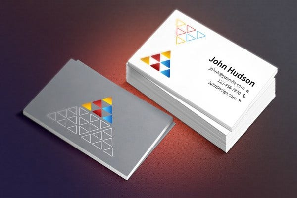 Business Card Template Mockup