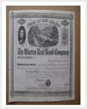 1859 the warren railroad company share stock certificate min