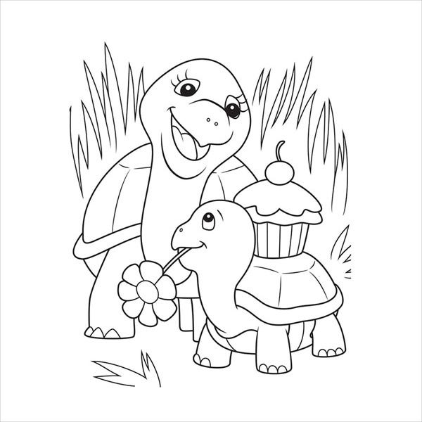 animal childrens coloring page