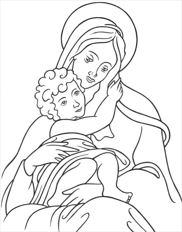 Catholic Children's Coloring Page