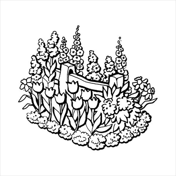 childrens garden coloring page