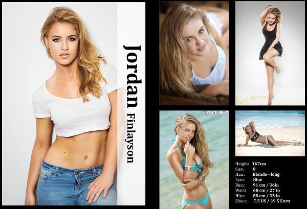 Comp Card Templates Free Sample Example Format Download - Model comp card template
