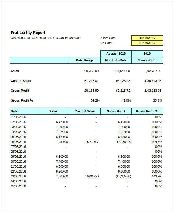 excel inventory report template
