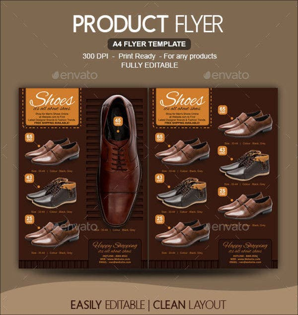 shoe store flyer template