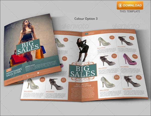 shoe sales flyer template