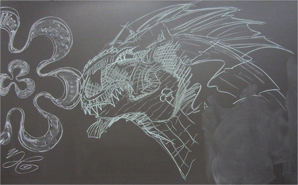 Amazing Chalkboard Drawing