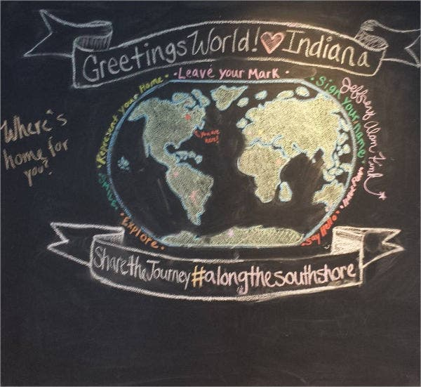 Chalkboard Global Drawing