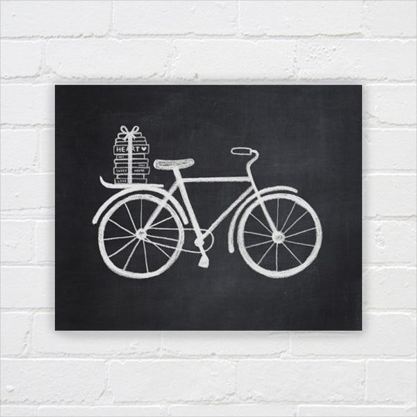 Printable Chalkboard Drawing