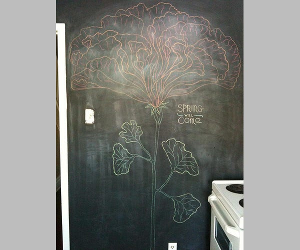 Spring Chalkboard Drawing