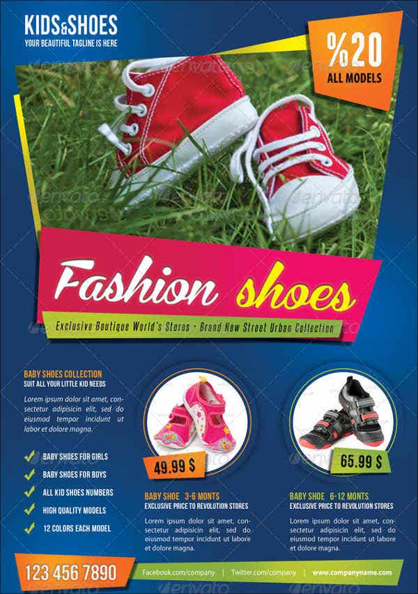 kids shoe flyer template