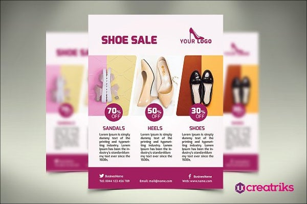 women shoe flyer template