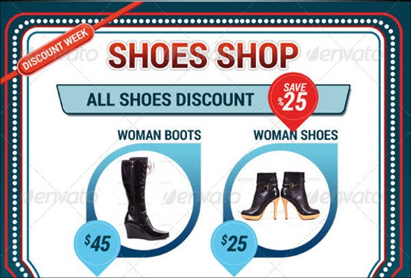 shoe company flyer template
