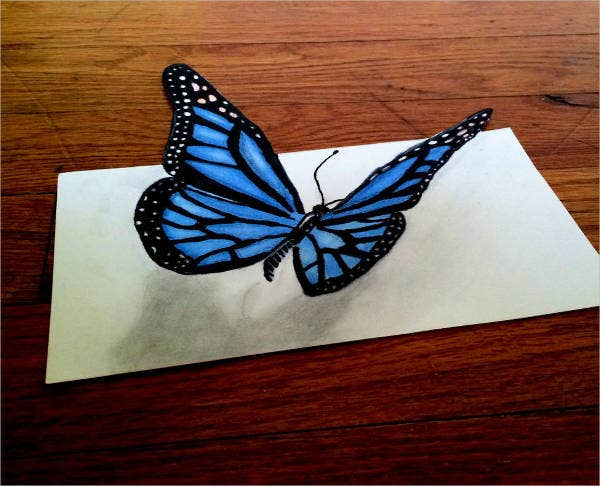 3d-butterfly-drawing
