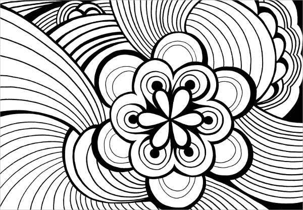 Abstract Coloring Page for Adults