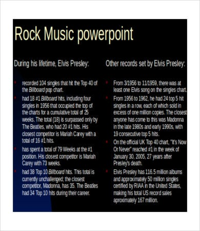 rock music powerpoint template