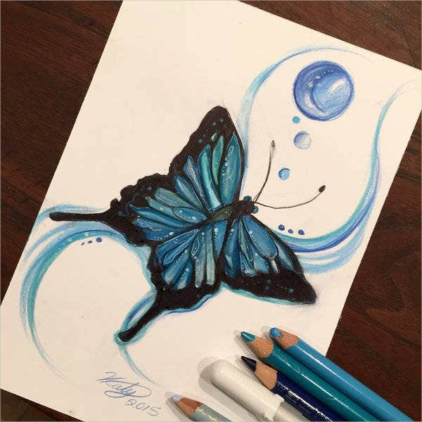 9 Butterfly Drawings Art Ideas Free Premium Templates