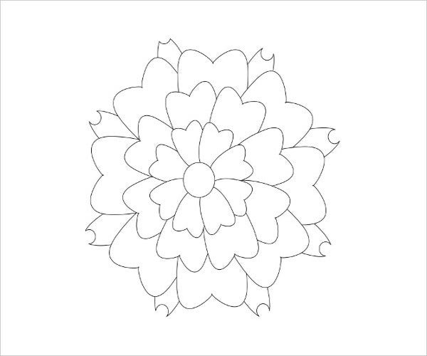 printable flower coloring page1