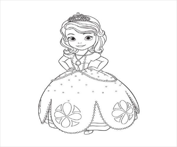 printable disney coloring page1