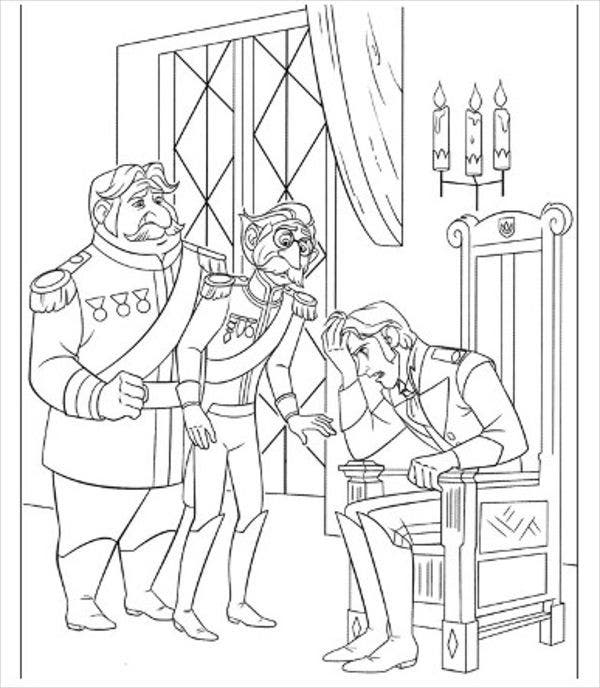 printable frozen coloring page1