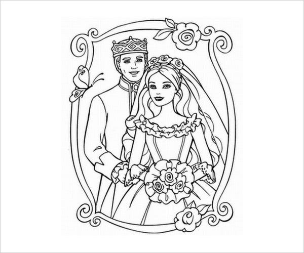 Printable Wedding Coloring Page