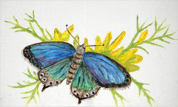 blue-butterfly-drawing