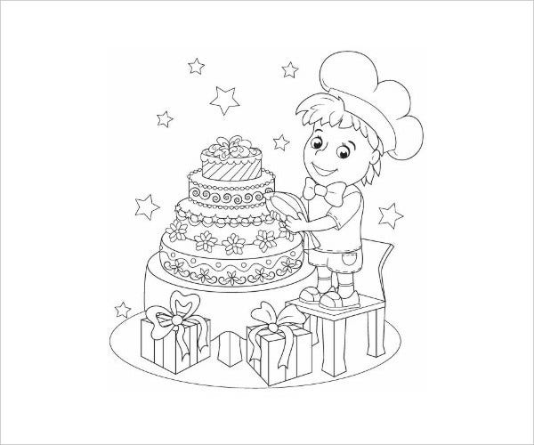 printable birthday coloring page1