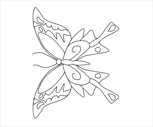 printable butterfly coloring page1