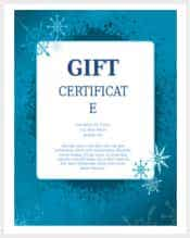 blue snowflakes christmas gift certificate word free download min