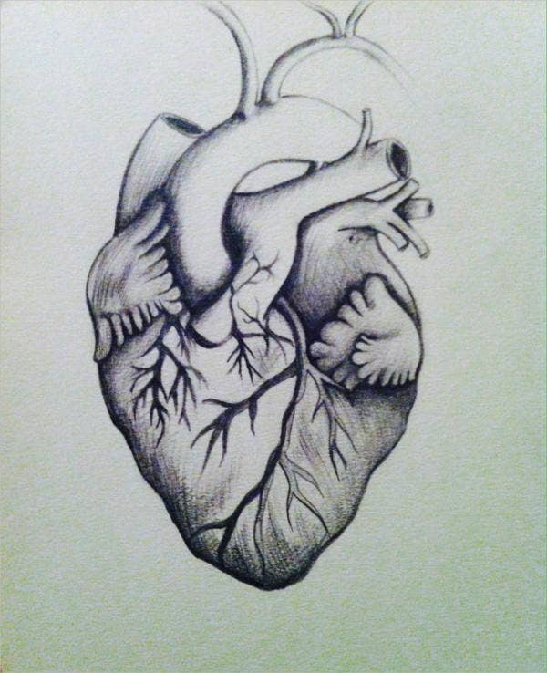 Heart Pencil Drawing