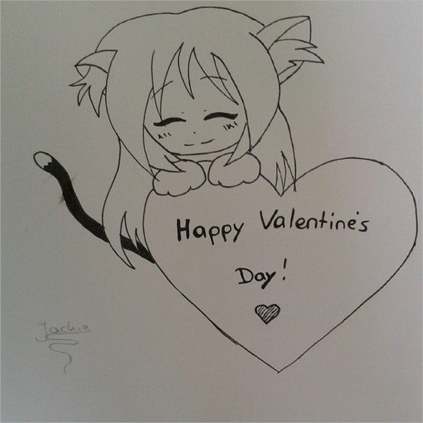 Valentine Heart Drawing
